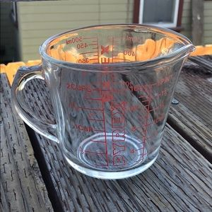Pyrex Glass Measuring Cup Home Kitchen Cooking
